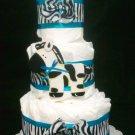 Precious Baby boy Zebra Diaper Cake by Little KG's Dreams