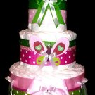 Butterfly Diaper Cake Three Tier