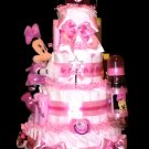 Minnie Mouse Pink Diaper Cake for Baby Shower Centerpiece or Gift By Little Kg Dreams