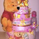 Winnie Pooh - Girl Diaper Cake By Little Kg's Dreams