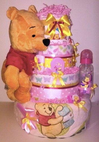Winnie Pooh - Girl Diaper Cake By Little Kg's Dreams
