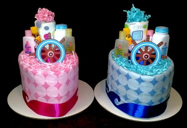 Nautical Seal boat diaper cake for baby shower