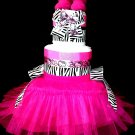 Hello Kitty Diaper Cake W/tutu Baby Shower Centerpiece By Little Kg's Dreams