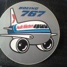 PACIFIC WESTERN BOEING 767 STICKER Unused