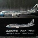 "GEMINI JETS ALASKA AIRLINES BOEING 737-400  1:400 ""SALMON THIRTY SALMON"""