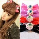 Kawaii Clothing Lazo Ojo 1PC Bow Eye Hair Clip Demon Punk Harajuku Korean Japanese WH252