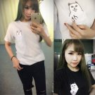 Cat Pocket T-Shirt / Camiseta Bolsillo Gato WH015 Kawaii Clothing