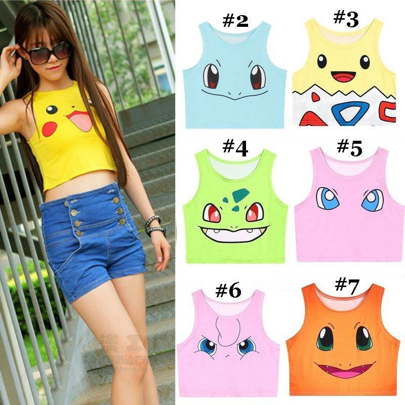 Pokemon Go Crop Top WH020 Kawaii Clothing