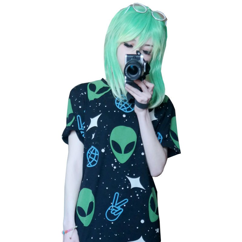 Alien T-Shirt Camiseta WH102 Kawaii Clothing
