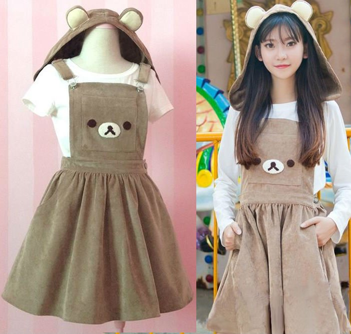 Rilakkuma Dress Vestido WH158 Kawaii Clothing