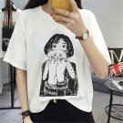 Girl with Cat T-Shirt / Camiseta Chica con Gato WH072 Kawaii Clothing