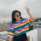 Kawaii Clothing Colorful Ulzzang Rainbow T-Shirt Lgtbi Japanese WH376