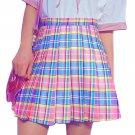 Kawaii Clothing Pink Pleated Short Plaid Tartan Sexy Harajuku WH327