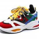 Kawaii Clothing Colorful Sneakers Shoes 90s Black White Harajuku WH478
