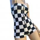 Kawaii Clothing Plaid Tartan Jumpsuit Punk Sexy Checker Romper WH309