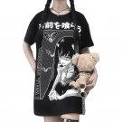 Kawaii Clothing Punk Gothic Vampire Black T-Shirt Bats Anime Emo WH506