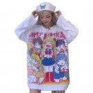 Kawaii Clothing T-Shirt Anime Sailor Moon Harajuku Cartoon Cute Manga Japan WH164