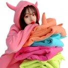 Kawaii Clothing Horns Demon Hoodie Sweatshirt Harajuku Harajuku Halloween Costume WH056