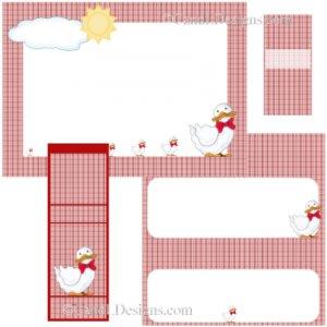 Duck 1  Candy Wrapper/Party Favors Set [dl043]