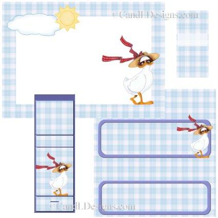 Duck 2 Candy Wrapper/Party Favors Set [dl044]