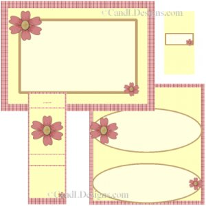 Red Check Candy Wrapper/Party Favors Set [dl063]