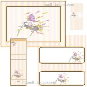 Spring Mouse Candy Wrapper/Party Favors Set  [dl060]