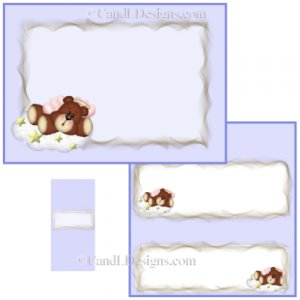 Angel Bear Boy Candy Wrapper/Party Favors Set [dl005]