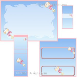 Baby Rattle Candy Wrapper/Party Favors Set [dl077]