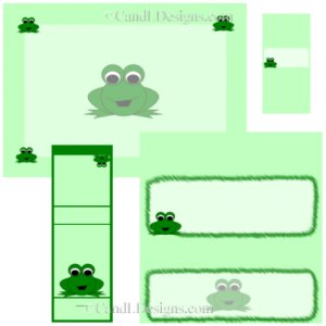 Froggy Candy Wrapper/Party Favors Set  [dl013]