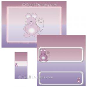 Mouse Candy Wrapper/Party Favors Set [dl018]