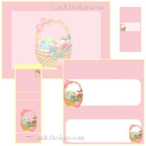 Pastel Easter Basket Candy Wrapper/Party Favors Set [dl027]
