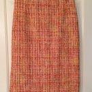 Dolce & Gabbana Orange Tweed Skirt 40