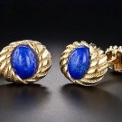 Tiffany & Co Schlumberger Lapis Lazuli 18k Gold Cufflinks