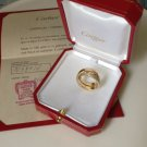 Cartier Paris Nouvelle Vague 18K YG Diamond Ring Box Papers 52