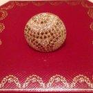 Exquisite Cartier Nouvelle Vague Pave Diamond 18K Gold Ring Size 53 Rare $25000