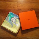 "HERMES 100% Authentic Silk Print Scarf ""Fetes Venitiennes"" NWT Box"