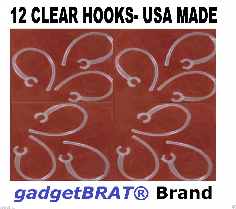 12 x Clear EAR HOOK LOOP CLIP SAMSUNG WEP 480 490 650 750 850 870 gadgetBRAT®