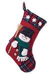 Plush Stocking-Snowman