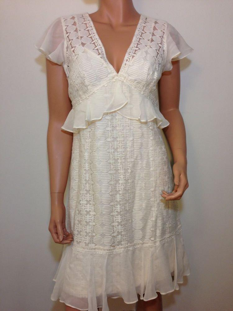 Ivory Lace Dress free hippie people wedding bridesmaid MEDIUM
