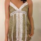 HIPPIE TOP boho VAIN anthropologie lace crochet beige white blouse SMALL
