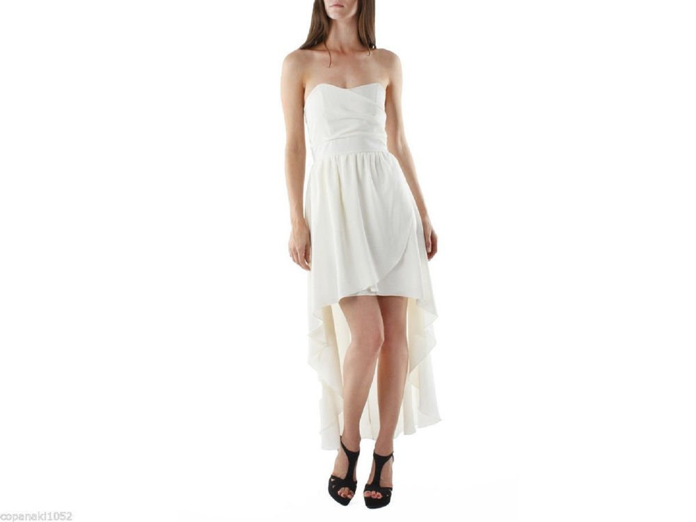 WHITE IVORY DRESS MINI MAXI LONG WEDDING PROM FORMAL COCKTAIL XS S