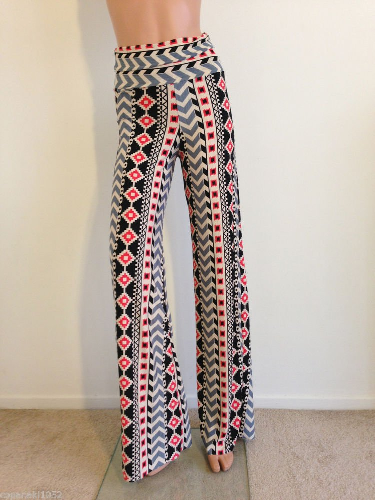 70s style Pants hippie boho festival bohemian long maxi MEDIUM