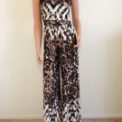 Jumpsuit romper jumper animal maxi pants long strapless SMALL