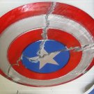 Cracked! Captain America Shield Wooden Replica With Adjustable Straps