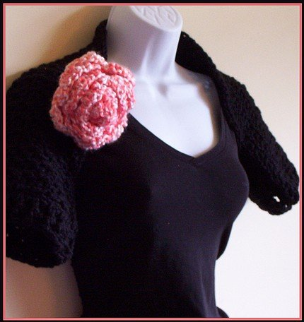 Crochet Shrug - Raven's Wing