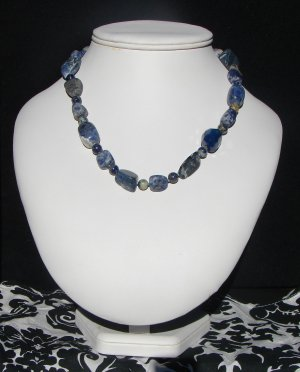 blue chunky stones