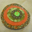 Recycled fabric sample circle pin
