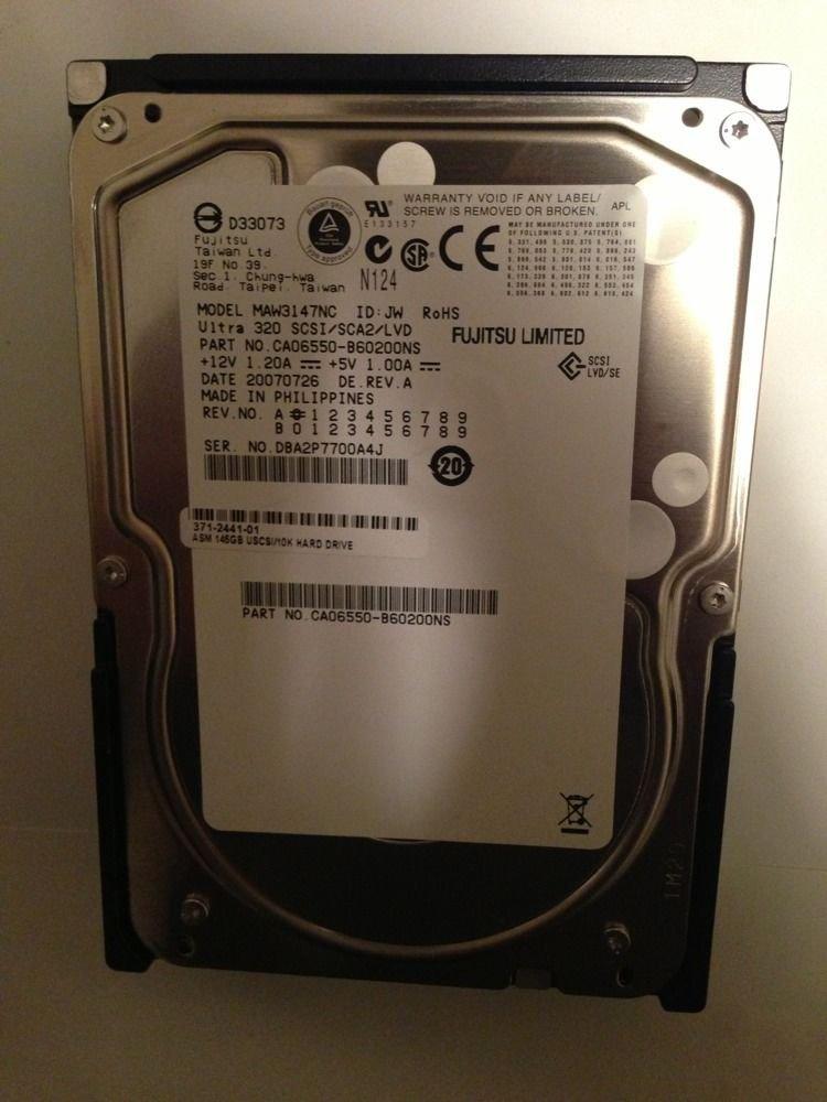 Fujitsu 146GB 10K U320 80-Pin SCSI Hard Drive MAW3147NC