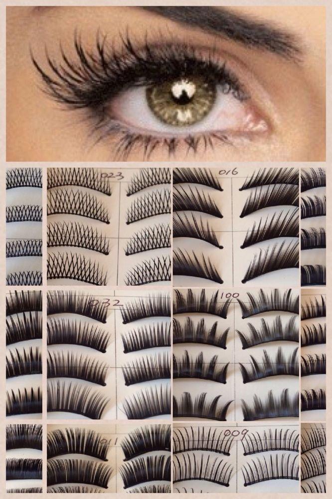 HOT New 10/40/60/120 Pair Natural OR Thick Fake False Eyelashes Eye Lash Fashion