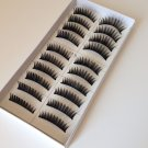 10 Pairs Natural Black Long False Eyelashes Makeup Eye Lash #026